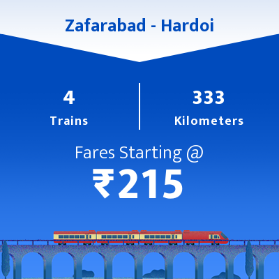 Zafarabad To Hardoi Trains