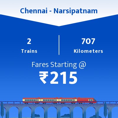 Chennai To Narsipatnam Trains