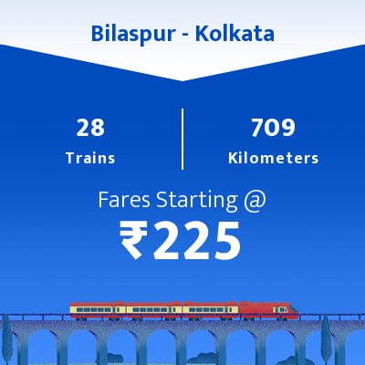 Bilaspur To Kolkata Trains