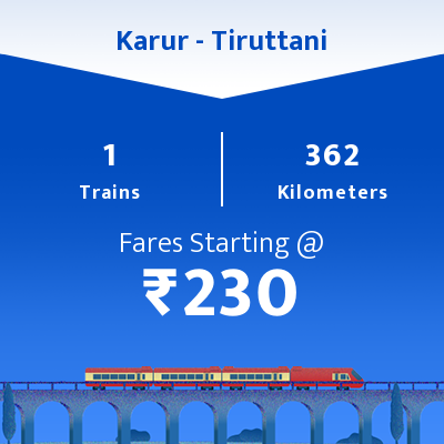 Karur To Tiruttani Trains