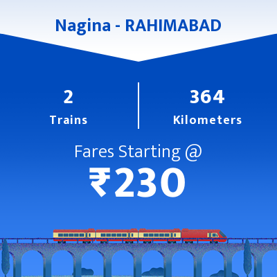 Nagina To RAHIMABAD   Trains
