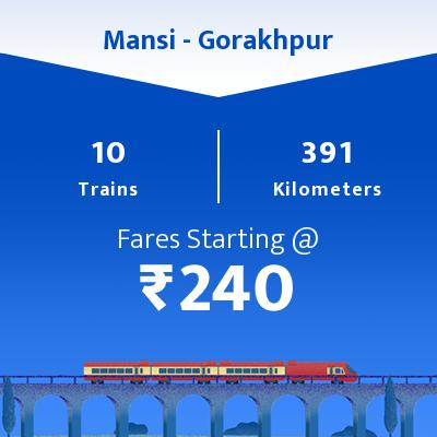 10 Mansi to Gorakhpur Train Time Table, Seat Availability, Route
