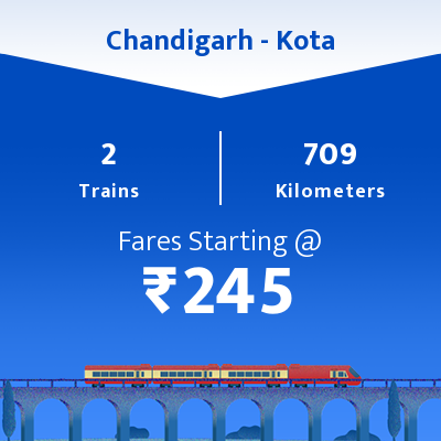 Chandigarh To Kota Trains