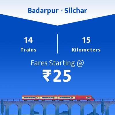 14 Badarpur to Silchar Train Time Table, Seat Availability