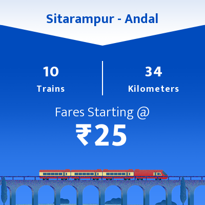 Sitarampur To Andal Trains