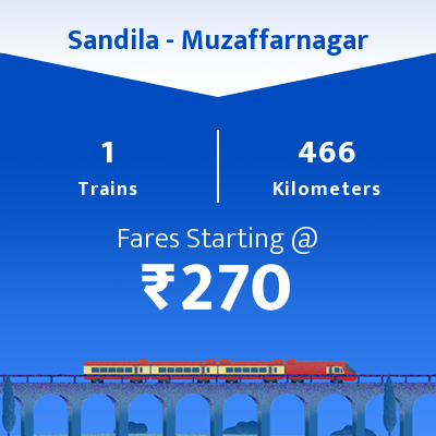 Sandila To Muzaffarnagar Trains