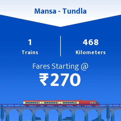 Mansa To Tundla Trains