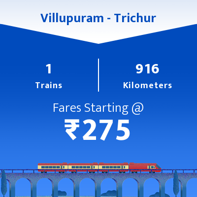 Villupuram To Trichur Trains