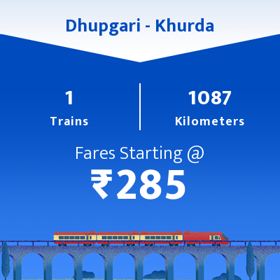 Dhupgari To Khurda Trains
