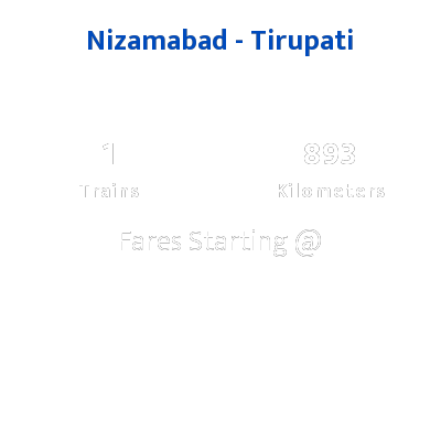 Nizamabad To Tirupati Trains