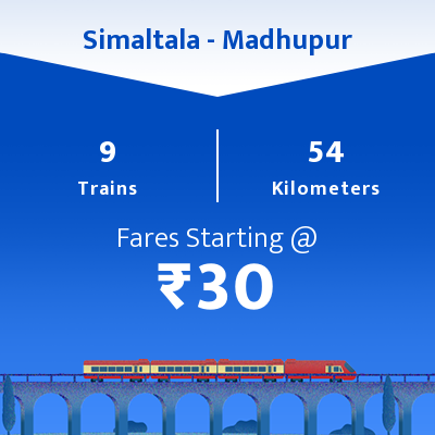 Simaltala To Madhupur Trains