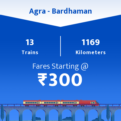 Agra To Bardhaman Trains