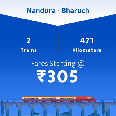 Nandura To Bharuch Trains