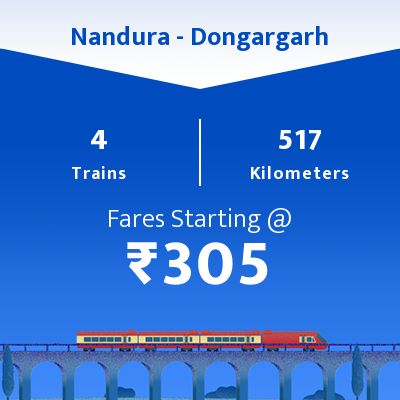 Nandura To Dongargarh Trains