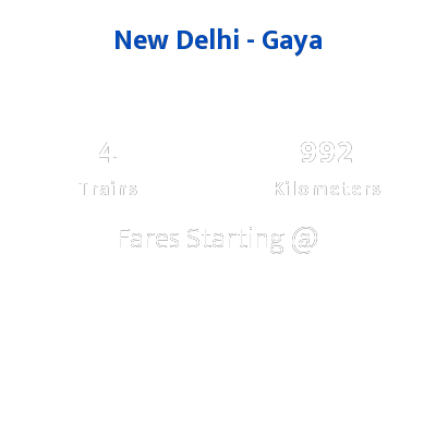 New Delhi To Gaya Trains