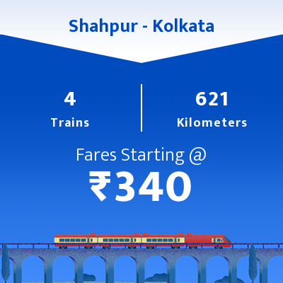 Shahpur To Kolkata Trains