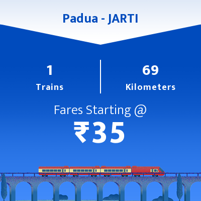 Padua To JARTI Trains
