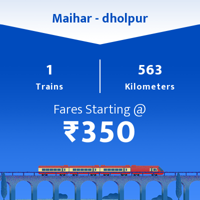 Maihar To dholpur Trains