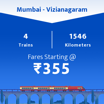 Mumbai To Vizianagaram Trains