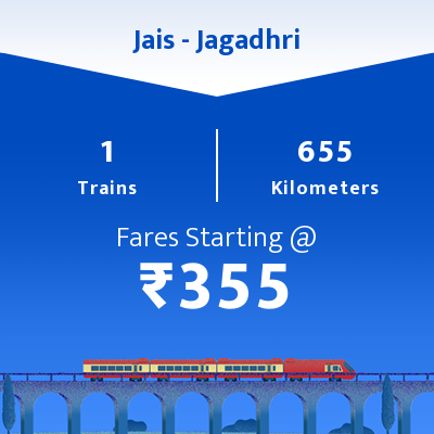 Jais To Jagadhri Trains