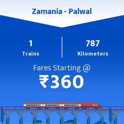 Zamania To Palwal Trains