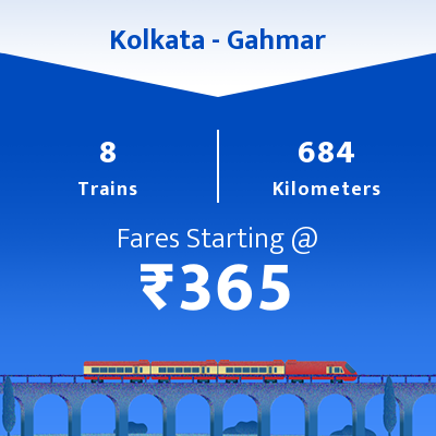 Kolkata To Gahmar Trains