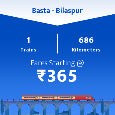 Basta To Bilaspur Trains