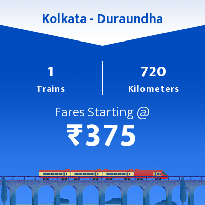 Kolkata To Duraundha Trains