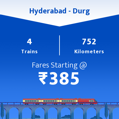 Hyderabad To Durg Trains