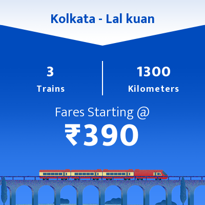 Kolkata To Lal kuan Trains