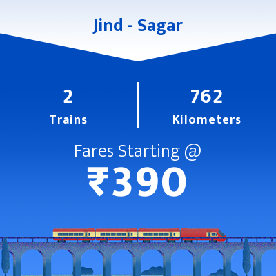 Jind To Sagar Trains