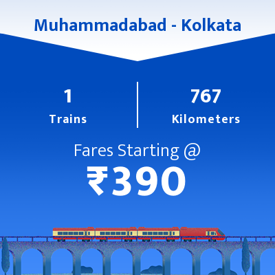 Muhammadabad To Kolkata Trains