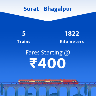 Surat To Bhagalpur Trains