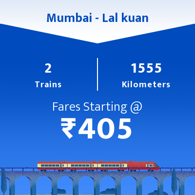 Mumbai To Lal kuan Trains