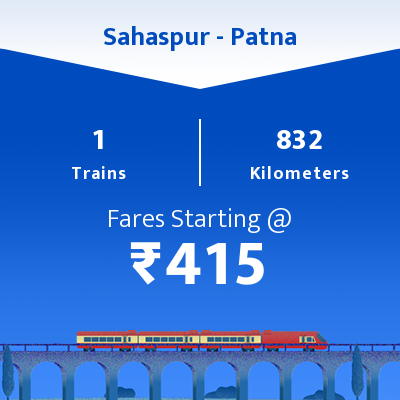 Sahaspur To Patna Trains