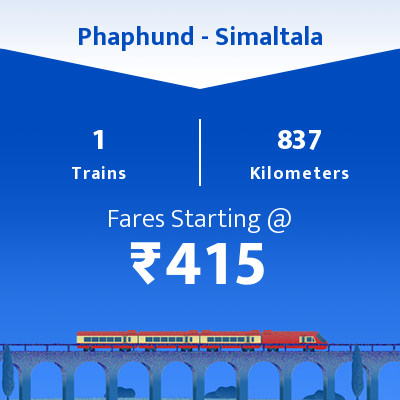 Phaphund To Simaltala Trains