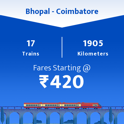Bhopal To Coimbatore Trains