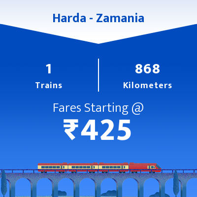 Harda To Zamania Trains