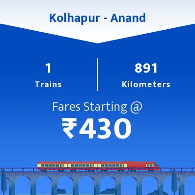 Kolhapur To Anand Trains