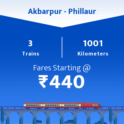 Akbarpur To Phillaur Trains