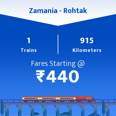 Zamania To Rohtak Trains