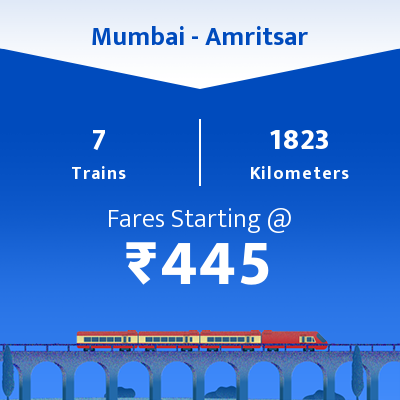 Mumbai To Amritsar Trains