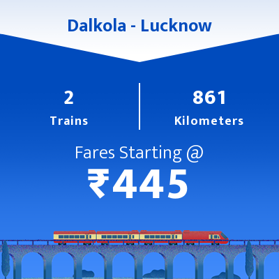 Dalkola To Lucknow Trains