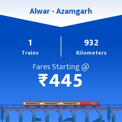 1 Alwar to Azamgarh Train Time Table, Seat Availability