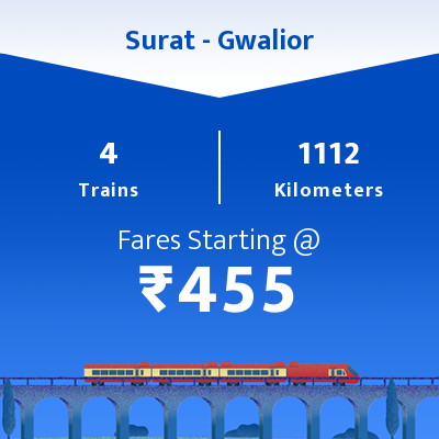 Surat To Gwalior Trains