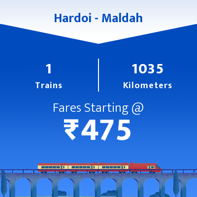 Hardoi To Maldah Trains