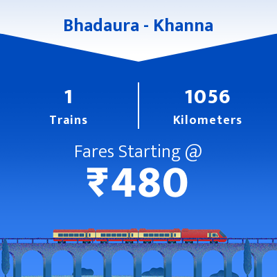 Bhadaura To Khanna Trains
