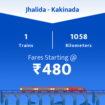 Jhalida To Kakinada Trains