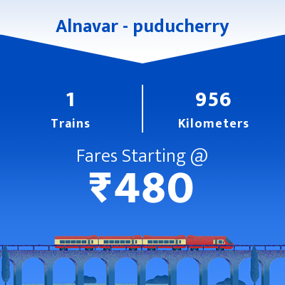 Alnavar To puducherry Trains