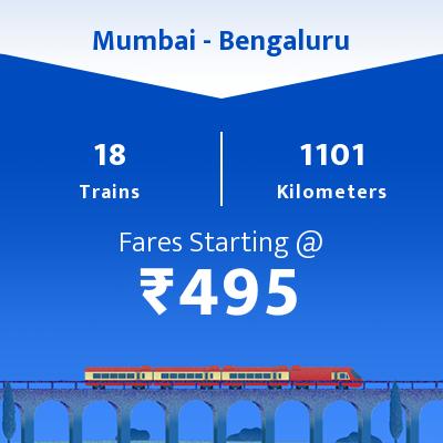 18 Mumbai to Bengaluru Train Time Table, Seat Availability